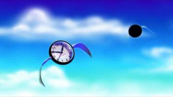 Flying clocks background video