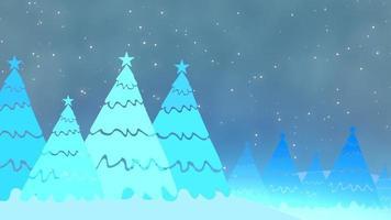 árboles de navidad y estrellas video