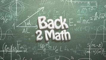 texto de volta para matemática e fórmulas matemáticas video
