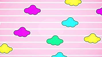 animação desenho animado nuvens pastel colorido kawaii
