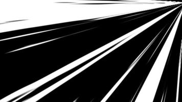 transição de cores preto e branco dos raios de energia. video