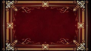 moldura ornamental de ouro vintage com introdução de padrões florais