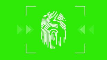 Futuristic technology of security ID fingerprint on green screen