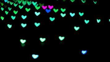 flou formes de coeur changeant de couleurs fond video