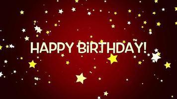 texto e confetes de feliz aniversário video