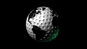 bola de golfe planeta terra