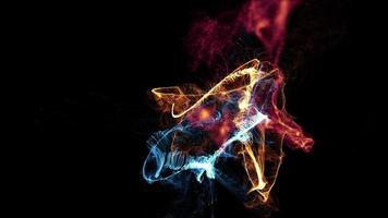 animierter Hintergrund des abstrakten Partikels