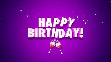 gelukkige verjaardag en glazen juichen video