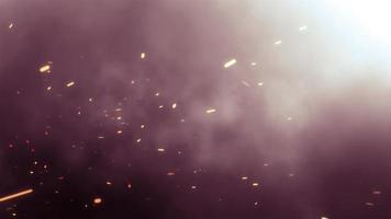 Explosão de luz de flare óptica com efeito de fumaça