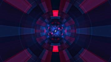 rotação de radar de tecnologia futurista digital vermelho-azul