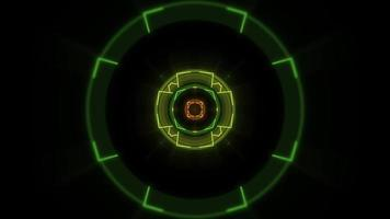 Neon geometric circles and lines