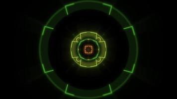 círculos e linhas geométricas de néon video