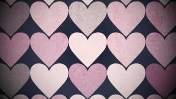 Big pink hearts pattern video