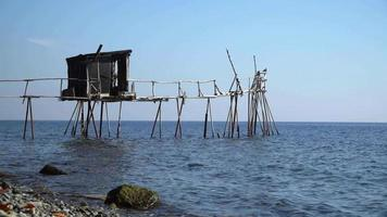 traditionele dalyan-pier om te vissen video