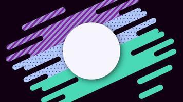cercle en lignes géométriques video