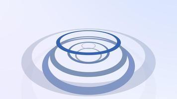 líneas y círculos en movimiento abstracto