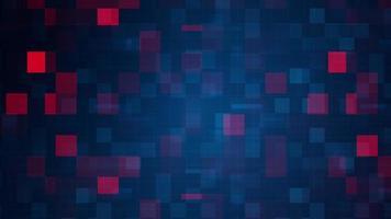 pixel di mosaico azzurro-rosso lampeggiante ciclo di commutazione
