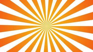 style de dessin animé de rayonnement solaire jaune orange.