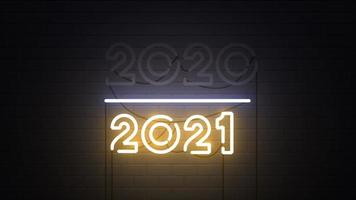 Change Happy New Year 2021 Neon Sign video