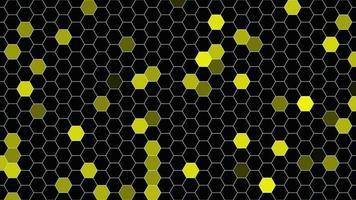 hexágonos amarillos geométricos