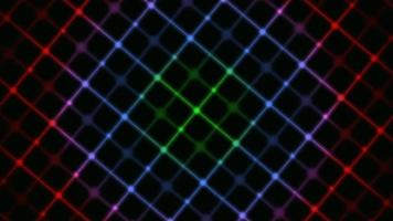 Retro blaue und rote Linien video