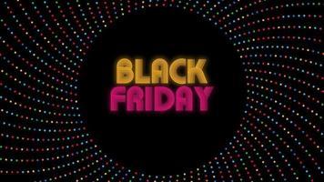 svart fredag text på mörk bakgrund video