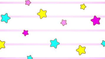 estrelas fofas pastel colorido kawaii