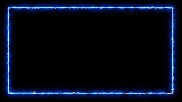 lindo fundo de vídeo 4k com moldura quadrada azul