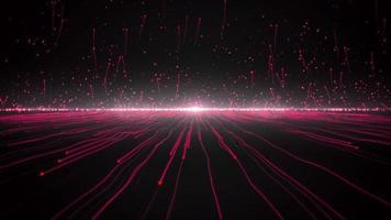 luzes vermelhas se movendo à distância video