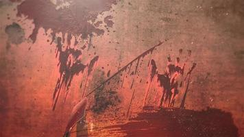 sangue escuro em fundo de terror video