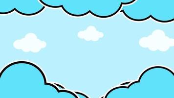 desenho de nuvens no céu