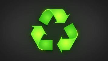 meio ambiente reciclar fundo de logotipo verde video