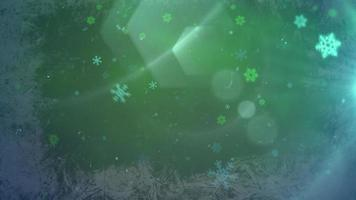 winter achtergrond met vliegen sneeuwvlok video