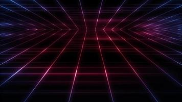 Retro Eighties Synthwave Technology Grid Background Loop