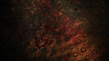 sangre oscura sobre fondo de terror video