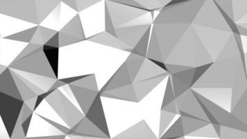 vit låg poly abstrakt bakgrund video