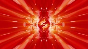 Sinalizador de velocidade amarelo-laranja-vermelho brilhante girando