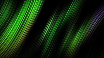Animación de lazo de líneas rayadas láser de neón verde oscuro