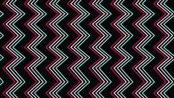retro abstracte zigzag video
