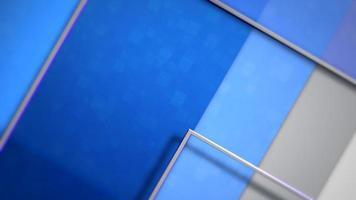 modèle d & # 39; entreprise avec des carrés bleus