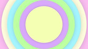 Animación emergente de círculo de color pastel