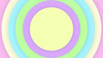 Pastellfarbene Kreis Popup-Animation video