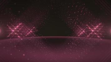 líneas rosadas abstractas hechas de puntos video