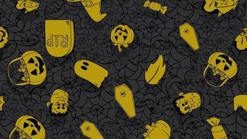 abóboras, caveiras e outros símbolos de halloween