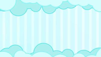 desenho animado flutuando nuvens céu