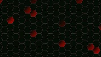 abstrakt röd hexagoner bakgrund video