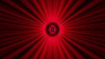 Fondo visual psicodélico cíclico de rayos de luz roja
