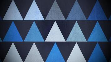 motif de grands triangles bleus video