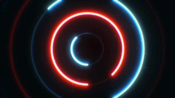 Abstract Neon Circles Background Animation Loop