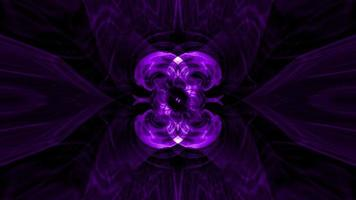 Abstract Bright Neon Purple-Ultraviolet Psychedelic Hypnotic Loop
